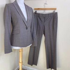 Ann Taylor Grey 2 Piece Suit Blazer Pants